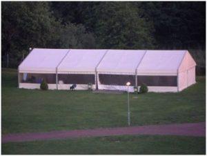 BlinDZ - duży biały namiot
